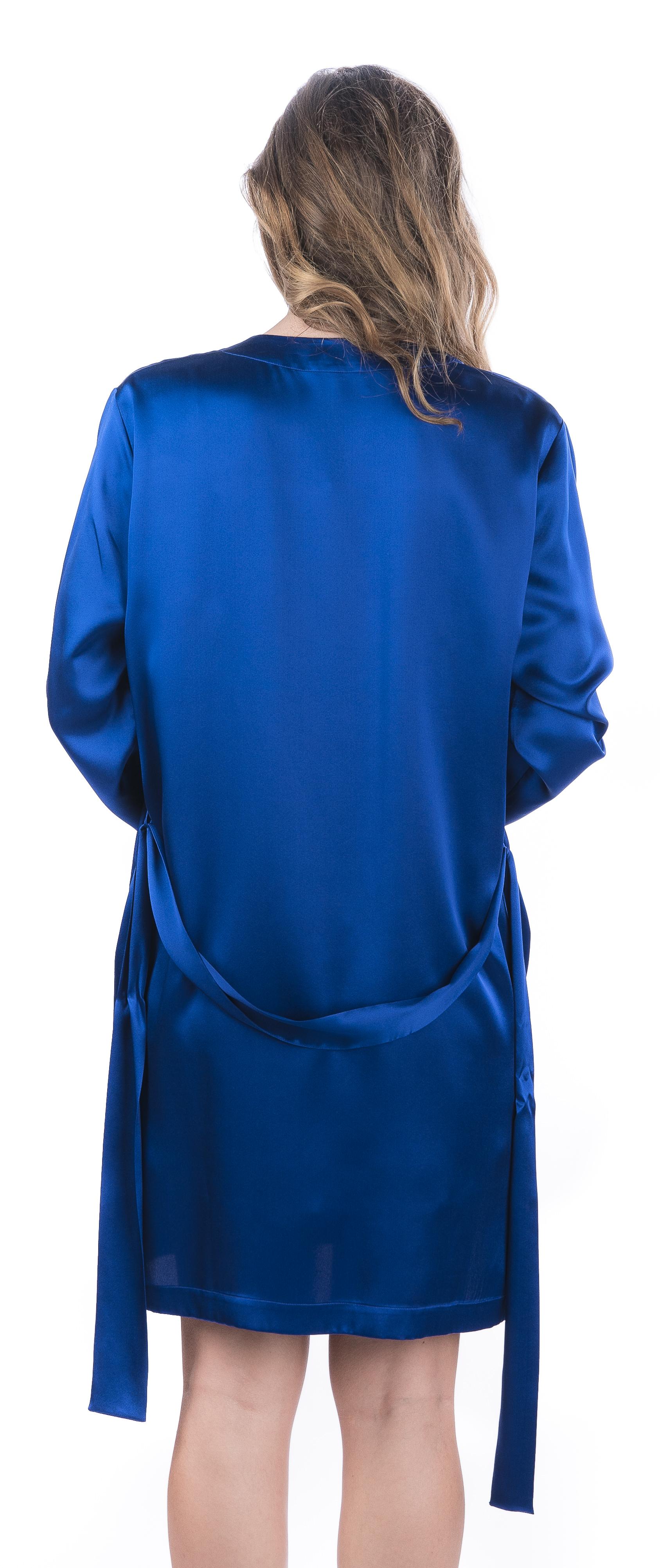 Kimono corto liscio manica lunga