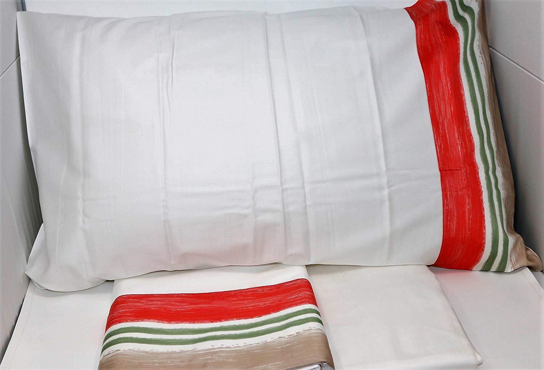 Set lenzuola matrimoniale stampa camelia 1