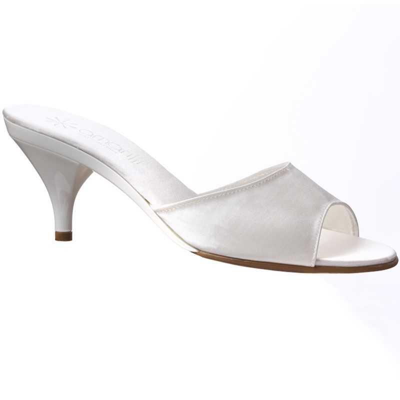 Pantofoline da sposa avorio