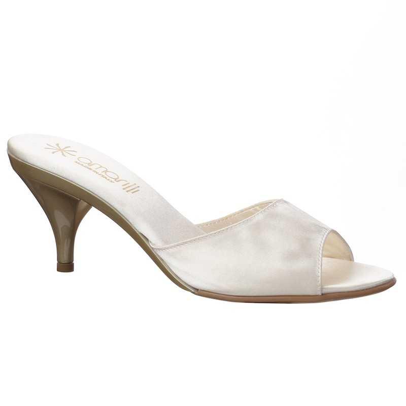 Pantofoline da sposa miele