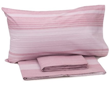 Set lenzuola matrimoniale rosa