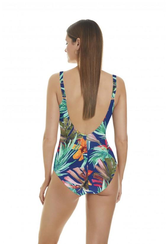 costume da bagno donna intero stampa tropicale