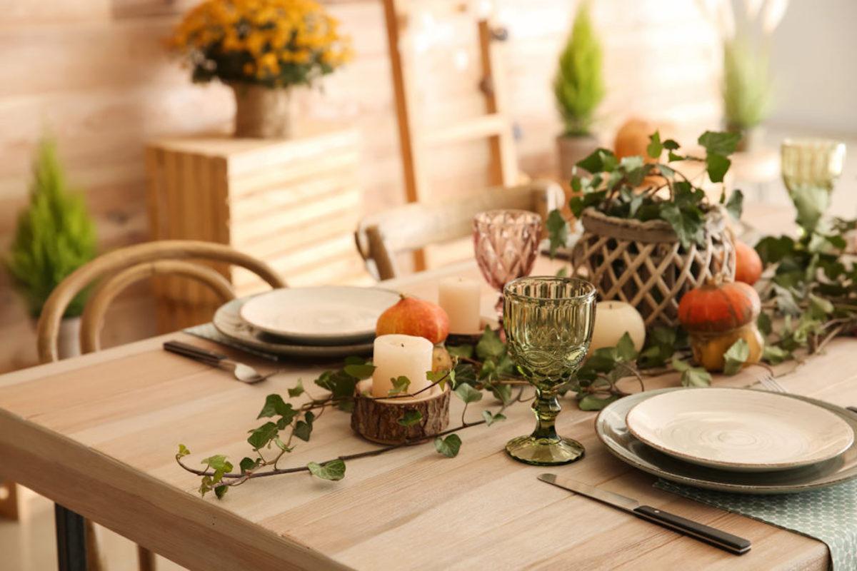 decorare tavola autunnale