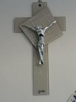 giovinarte croce in vetro di murano