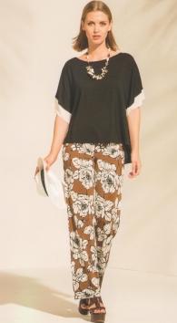 Maglia kimono mezza manica nero tinta unita