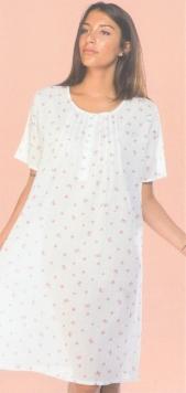 Camicia da notte corta con manica corta stampata