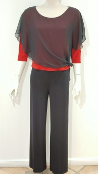 casacca manica lunga nero e rosso