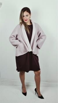 Giacca rosa in lana cotta