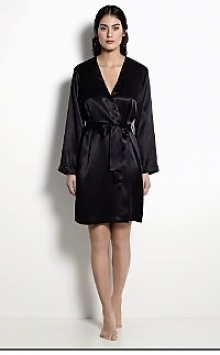Vestaglia kimono corto liscio manica lunga