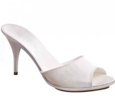 Pantofoline da sposa alte avorio
