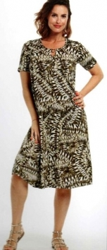 abito donna corto manica corta stampa geometrica