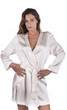 completo da sposa donna seta corto camicia da notte pizzo e kimono