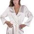 Completo da Sposa seta pura Kimono Camicia da notte – Wedding & Bridal pure silk Robe Kimono Nightgown set