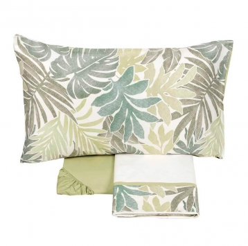 Completo lenzuola matrimoniale Textures verde Fazzini