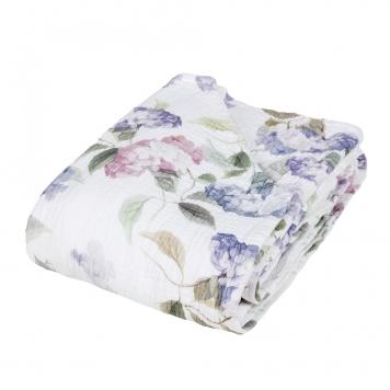 copriletto matrimoniale piquet cotone stampa fiori