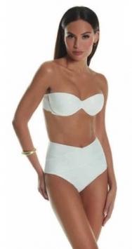 costume da bagno donna bikini a fascia unica tinta