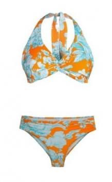 costume da bagno donna bikini triangolo stampa fiori