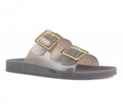 sandali slide donna mare doppia fibbia nero