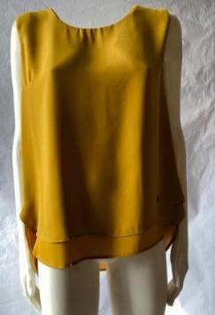 sottogiacca donna senza manica giallo rosso